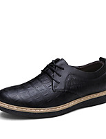 Men's Shoes Office & Career / Party & Evening / Casual Leather Oxfords Black / Blue / Brown