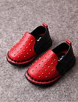 Baby Shoes - Casual - Sneakers alla moda - Finta pelle - Rosso / Bianco / Argento