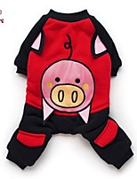 FUN OF PETS® Pink Pig Pattern Costume Coat with Pants for Pets Dogs (Assorted Sizes)