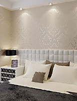 nouvelle rainbow ™ au papier peint contemporain riz floral mur blanc couvrant pvc / mur de vinyle art