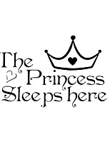 Princess Sleeps Bedroom Decorative Wall Stickers