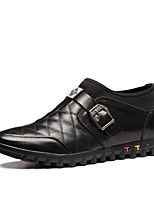 Men's Shoes Casual Leather Oxfords Black / Blue / Brown