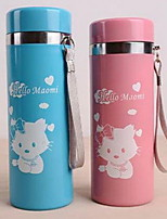 Fashion cartoon cup 357 students Seamless double vacuum cup Stainless steel insulation sealing leak proof