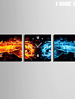 E-HOME® Flame Fist Clock in Canvas 3pcs