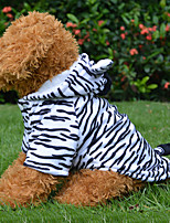 White Cosplay Zebra Cotton Coats/Hoodies Clothes For Dogs