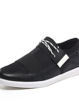 Men's Shoes Outdoor / Athletic / Casual Microfibre Fashion Sneakers / Slip-on Black / White