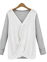 Women's  Casual Cute  Long Sleeve  Shirt (chiffon)