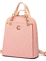 VUITTON ® Women PU Bucket Backpack / School Bag / Travel Bag - White / Pink / Blue / Yellow / Brown