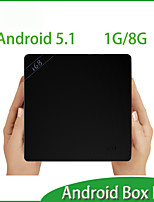 TV Box Android 5.1 RK3368 64bits Octa core Cortex A53 1GB+8GB Media Player HDMI Multi Language Android 5.1 TV Box