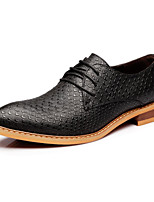 Men's Oxfords/Comfort/Leather/Office & Career/Party & Evening Casual/Black/Red Walking