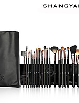 SY 20PCS Cosmetic Brush Set/Mink Hair Brush/Goat Hair Brush/Pony Brush/Synthetic Hair