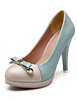 Women's Shoes Cone Heel Comfort / Round Toe Heels Outdoor / Office & Career / Dress / Casual Blue / Pink