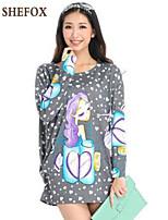 Women's Casual/Plus Sizes Long Sleeve Pullover , Knitwear Medium SF8A09