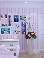New Rainbow™  Contemporary Wallpaper Stripe Pink Wallpaper Wall Covering Non-woven Fabric Wall Art