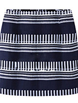 Women's Print  Casual  Bodycon  Cute  Skirts  (cotton)