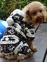 FUN OF PETS® Classic Deers Pattern Warm Fleece Jumpsuits for Pets Dogs (Assorted Sizes)