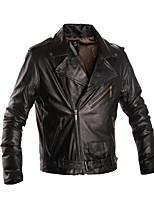 Mens Black Leather Jacket Biker Large Genuine Real Leather Motorcycle