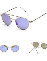 100% UV400 Round Fashion Mirrored Sunglasses