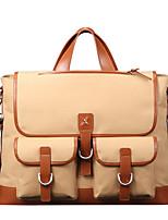 X.BNJ Men Briefcase Top Grade Genuine Leather and Oxford Business Handbag Vintage First Layer Cowhide Shoulder Bag