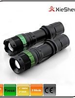 3 Mode 250 lumens LED Torches 18650/AAA Adjustable Focus/Waterproof/Rechargeable/Impact