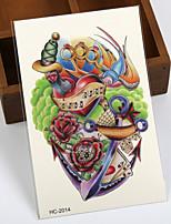 (1pcs) Colorful Temporary Tattoo Waterproof Sexy Armhand Tattoo Body Art/Love VS Totem VS Flower/Big Fake Tatoo Stickers