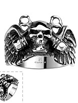 Ring Skull Halloween Daily Casual Sports Jewelry Stainless Steel Men Ring 1pc,8 9 11 Silver