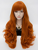 Loita Long Wavy Hair Cosplay Wig  Heat Resist Synthetic Party hair Orange