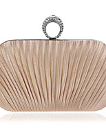 Women Polyester / Metal Minaudiere Clutch / Evening Bag - Gold / Silver / Gray