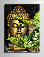 E-HOME® Stretched Canvas Art Bronze Buddha Decorative Painting One Pcs