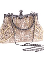 ef71363cd0e1f Women s Bags Polyester Evening Bag Imitation Pearl   Crystal   Rhinestone  Geometric Champagne   Black   Gold