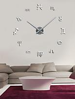 Uermerstar 3D DIY   Mirror Numbers Acrylic Sticker Wall Clock  Diameter 39 in Modern Style