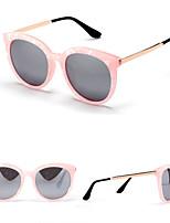 Women's 100% UV400 Round Fashion Shell Grain Sunglasses