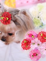 FUN OF PETS®Elegant Lace Flower Hairpin for Pets Dogs(Assorted Colours)