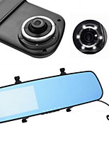 990 Dual Lens Rear View Mirror Type Traveling Data Recorder 4.3 Inch Large Screen HD CAR DVR