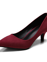 Women's Shoes Suede Stiletto Heels / Pointed Toe / Closed Toe Heels Wedding /Big Yards Autumn Shallow Mouth Female Hig