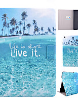 Coconut Tree Pattern PU Material Flip Tablet Protective Shell for iPad Air