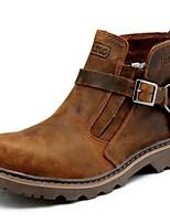 Chaussures Femme - Extérieure / Bureau & Travail / Décontracté / Sport / Soirée & Evénement - Marron - Talon Plat -Confort / Rangers /