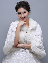 Ivory 3/4-Length Sleeve Wedding Wraps Imitation Cashmere Coats/Jackets