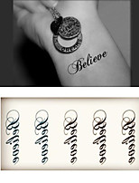 (1pcs)HC136-Believe Words New Design Fashion Temporary Tattoo Stickers Temporary Body Art Waterproof Tattoo Pattern