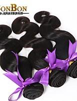 Virgem cabelo tecelagem humna onda do corpo barato bastante 4pcs / lot brazilian