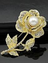 Dámské Brože Květiny Módní Přizpůsobeno Euramerican Štras Slitina Animal Shape Šperky ProSvatební Párty Zvláštní příležitosti Denní