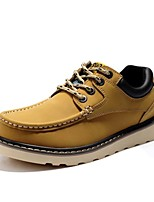 Men's Shoes Outdoor / Athletic / Casual Leather Oxfords Black / Yellow