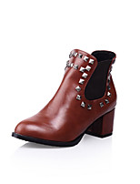Women's Shoes Chunky Heel Combat Boots/Round Toe/Closed Toe Boots