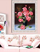 DIY-Kit Diamantkreuzstich, Blumen 65 * 81