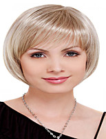 Capless Short Bleach Blonde Wavy High Quality Synthetic Wigs