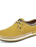 Warm Men's Shoes Office & Career / Athletic / Casual Leather / Suede Oxfords Blue / Brown / Yellow