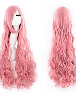 High Quality Nylon Hair Curly Hair Fashion Pink Girl Necessary Wig