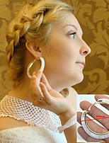 Vilam® Round Mesh Stardust With Shining Stone Filled Colorful Hoop Earrings Big 1 Pair