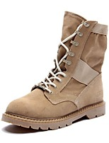 Women's Shoes Suede Flat Heel Cowboy / Western Boots / Riding / Fashion  / Motorcycle / Bootie / Comfort / Combat Boots