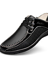 Men's Shoes Office & Career / Party & Evening / Athletic / Casual Leather Oxfords Black